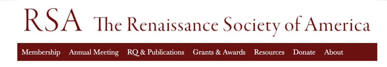 Call for papers : Renaissance Society of America Annual Meeting