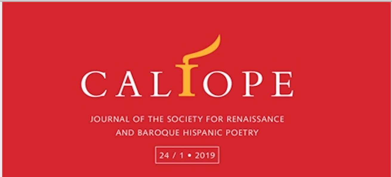 CFA: número especial de Calíope sobre imagen y poesía en el barroco